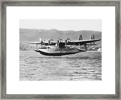 Honolulu To Alameda Flight Framed Print by Underwood Archives