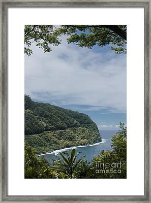 Honomanu - Highway To Heaven - Road To Hana Maui Hawaii Framed Print by Sharon Mau