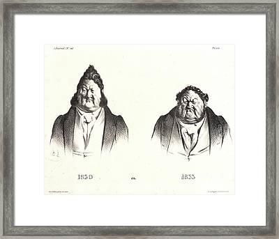 Honoré Daumier French, 1808 - 1879. 1830 Et 1833 Framed Print