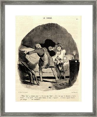 Honoré Daumier French, 1808 - 1879. Allons Framed Print by Litz Collection