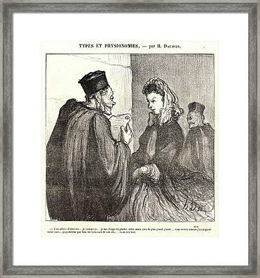 Honoré Daumier French, 1808 - 1879. An Adulterous Affair Framed Print by Litz Collection