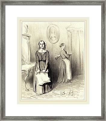 Honoré Daumier French, 1808-1879, Ce Journal Trouve Mon Framed Print