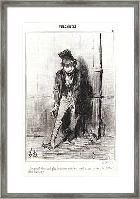Honoré Daumier French, 1808 - 1879. Cré Nom Elles Sont Framed Print