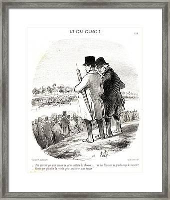Honoré Daumier French, 1808 - 1879. Dire Pourtant Que Cest Framed Print