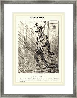 Honoré Daumier French, 1808-1879, Emotions Parisiennes Une Framed Print by Litz Collection