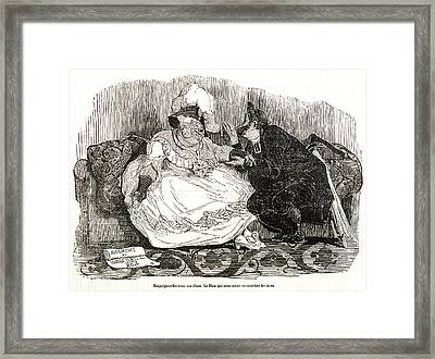 Honoré Daumier French, 1808 - 1879. Empoignez-les Tous Framed Print by Litz Collection