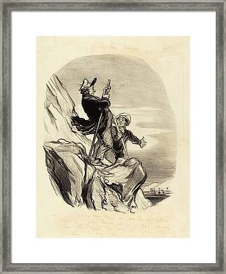 Honoré Daumier French, 1808 - 1879, Guide Framed Print