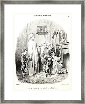 Honoré Daumier French, 1808 - 1879. I Dont Rent To People Framed Print