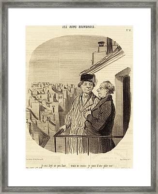 Honoré Daumier French, 1808 - 1879, Je Suis Logé Un Peu Framed Print by Quint Lox
