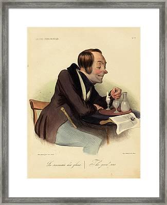 Honoré Daumier French, 1808 - 1879, La Renommée Des Glaces Framed Print