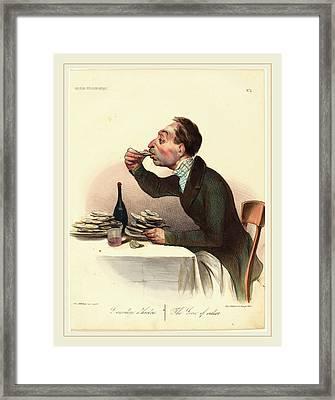 Honoré Daumier French, 1808-1879, Lamateur Dhuitres Framed Print