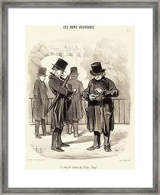Honoré Daumier French, 1808 - 1879, Le Coup De Canon Du Framed Print
