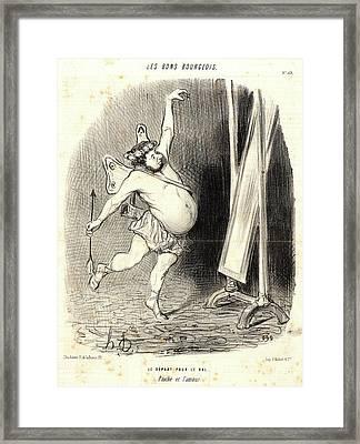 Honoré Daumier French, 1808 - 1879. Le Depart Pour Le Bal Framed Print by Litz Collection