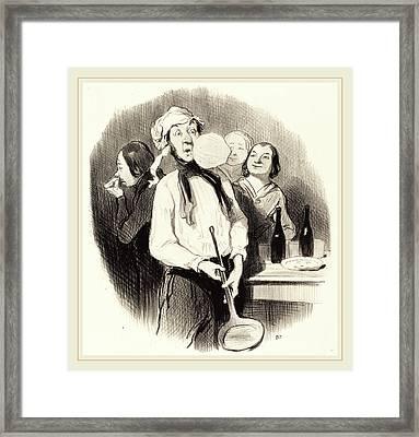 Honoré Daumier French, 1808-1879, Les Crêpes Framed Print