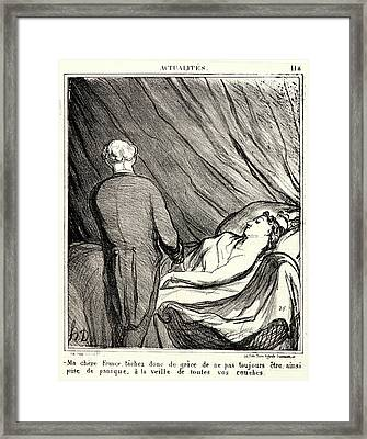 Honoré Daumier French, 1808 - 1879. —ma Chère France Framed Print by Litz Collection