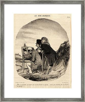 Honoré Daumier French, 1808 - 1879. Mais Si Framed Print by Litz Collection