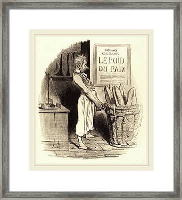 Honoré Daumier French, 1808-1879, Pour Lors Nous Sommes Framed Print