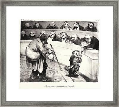 Honoré Daumier French, 1808 - 1879. Pour Un Pauvre Framed Print by Litz Collection