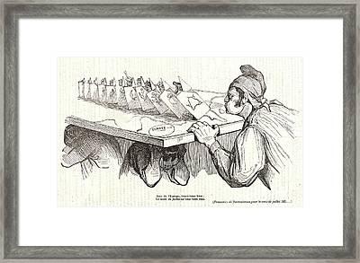 Honoré Daumier French, 1808 - 1879. Rois De Leurope Framed Print