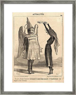 Honoré Daumier French, 1808 - 1879. Sainte Rosette Framed Print by Litz Collection