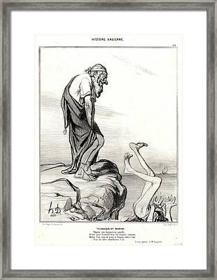 Honoré Daumier French, 1808 - 1879. Télémaque Et Mentor Framed Print