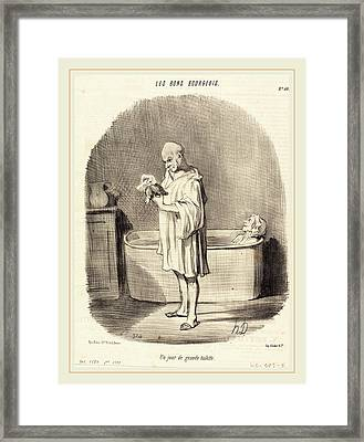 Honoré Daumier French, 1808-1879, Un Jour De Grande Framed Print