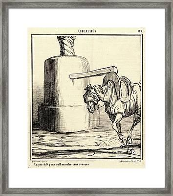 Honoré Daumier French, 1808 - 1879. Un Procédé Pour Quil Framed Print by Litz Collection