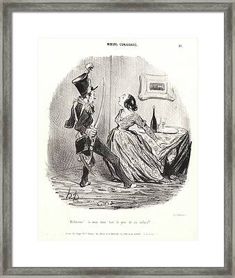 Honoré Daumier French, 1808 - 1879. Unfortunate Man Framed Print