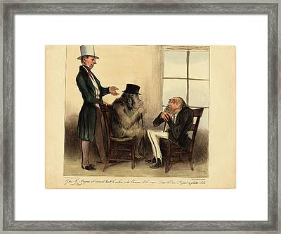 Honoré Daumier French, 1808 - 1879, Voyez Framed Print