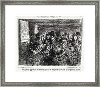 Honoré Daumier, Voyageurs Appréciant De Moins En Moins Framed Print by Quint Lox