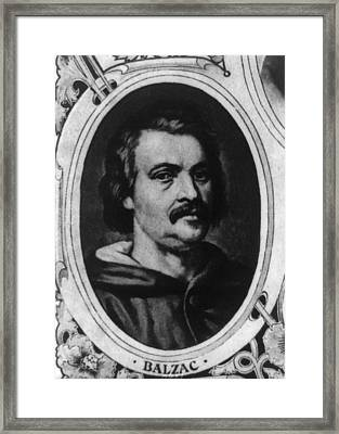 Honor� De Balzac 1799-1850, French Framed Print by Everett