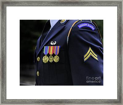 Honor Guard Framed Print by Jerry Fornarotto
