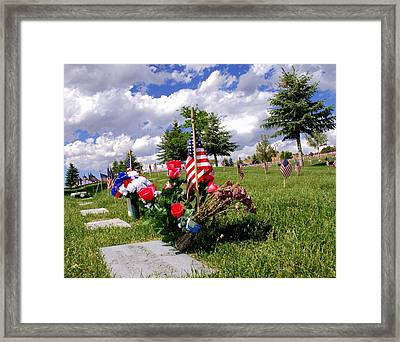 Honor Our Fallen Framed Print