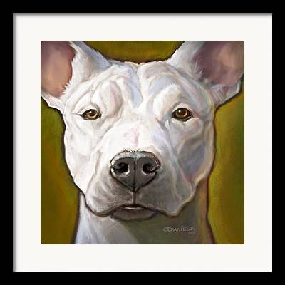 White Dogs Digital Art Framed Prints