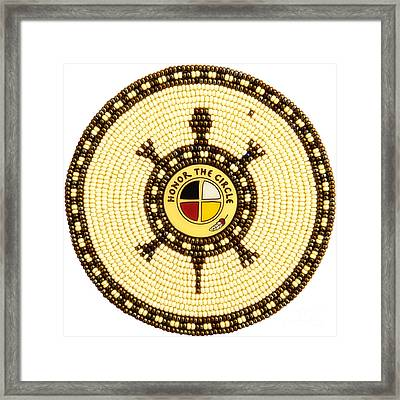 Honor The Circle Framed Print