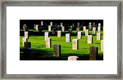 Honor The Fallen Framed Print by Benjamin Yeager