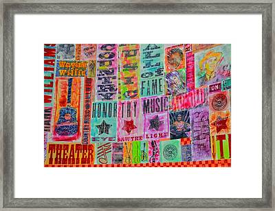 Honor Thy Music Blanket Framed Print