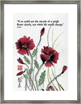 Framed Print featuring the painting Honor With Buddha Quote I by Bill Searle