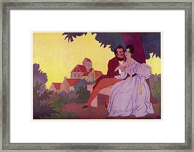 Honore De Balzac With His  Greatest Framed Print by Mary Evans Picture Library