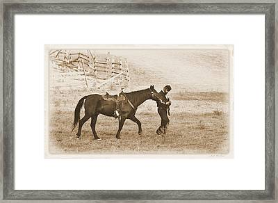 Framed Print featuring the photograph Honorig A Fallen Soldier by Judi Quelland