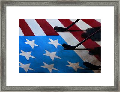 Honoring America Framed Print by Marlon Huynh