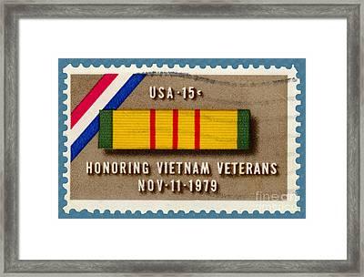 Honoring Vietnam Veterans Service Medal Postage Stamp Framed Print