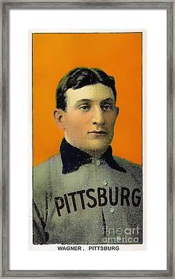 Honus Wagner Baseball Card 0838 Framed Print by Wingsdomain Art and Photography