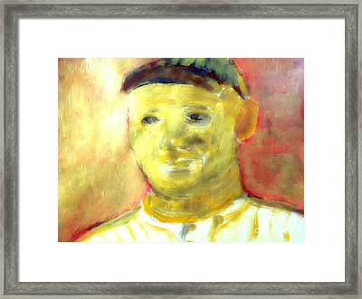 Honus Wagner Greatest Shortstop 1 Framed Print by Richard W Linford