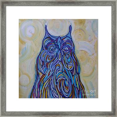 Framed Print featuring the painting Hoo Are You? by Michael Ciccotello