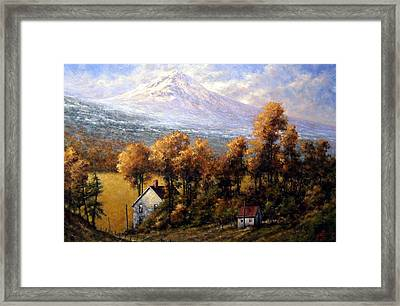 Hood At Late Afternoon Framed Print