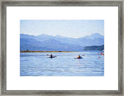 Hood Canal Kayaks Framed Print