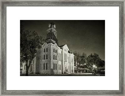 Hood County Courthouse Framed Print