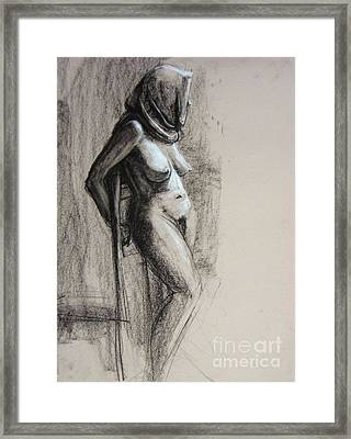Framed Print featuring the drawing Hood by Gabrielle Wilson-Sealy