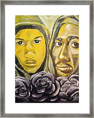 Hood Heaven Framed Print by Sean Ivy aka Afro Art Ivy